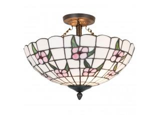 Závěsné světlo Tiffany Flower - Ø 41*33 cm 2x E27 max 60w