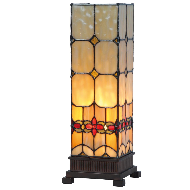 Stolní lampa Tiffany Oxford - 12.5*35 cm 1x E14 / Max 40W