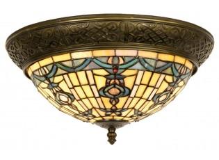 Stropní svítidlo Tiffany Alloment - Ø 38*19 cm 2x E14 / Max 40W