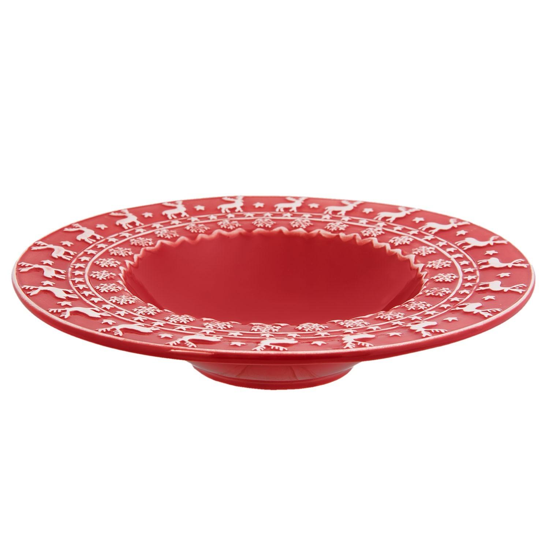Levně Polévkový talíř Cosy Winter - Ø 25*5 cm / 0.15L
