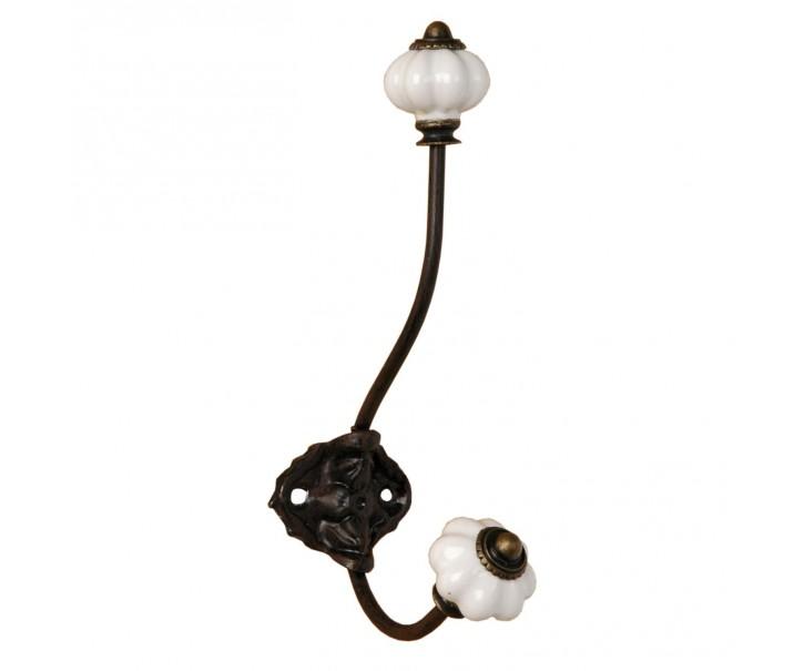 Kovový háček s keramickými nopkami - 5*10*18 cm