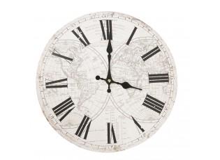 Bílé hodiny s římskými číslicemi World