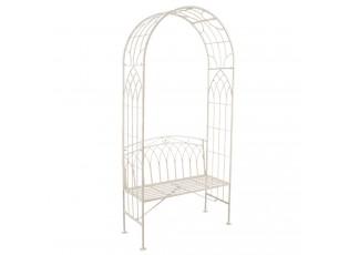 Kovová lavice s obloukem Gardenia - 110*50*215 cm