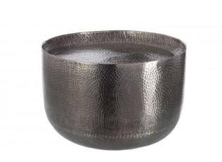 Kulatý konferenční stolek stříbrný - 50*50*34 cm