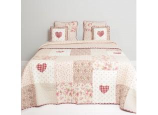 Patchwork přehoz na dvoulůžkové postele Roses Hearts - 260*260 cm