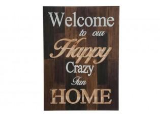 Dřevěná cedule HAPPY HOME - 66*3 *92 cm