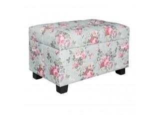 Květovaná stolička, taburet  - 50*34*33 cm