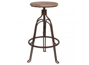 Kovová vytáčecí stolička Bistro - Ø 35*60 cm