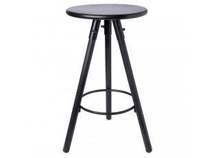 Černá kovová stolička - Ø 37*59 cm