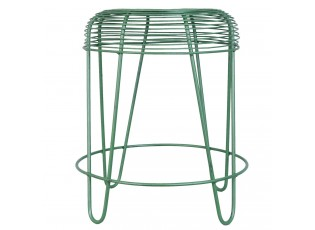 Zelená kovová stolička - Ø 40*46 cm