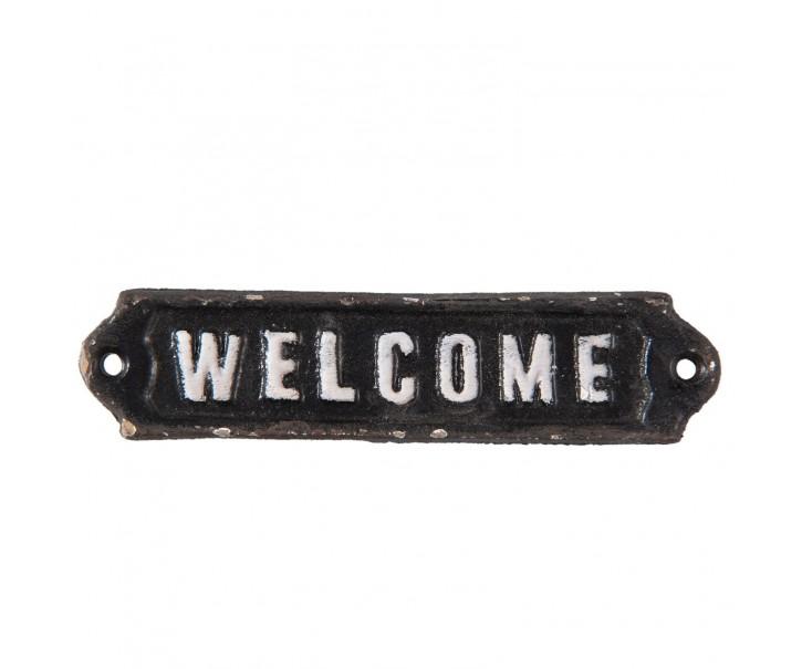 Kovová cedulka Welcome - 15*1*3 cm