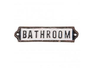 Kovová cedulka Bathroom - 15*1*3 cm