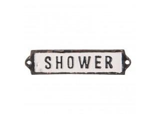 Kovová cedulka Shower - 15*1*3 cm