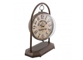 Kovové stolní retro hodiny s patinou - 23*17*30 cm