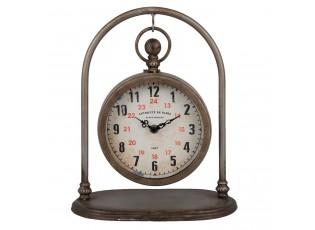 Kovové stolní retro hodiny Antiquité de Paris - 24*15*29 cm