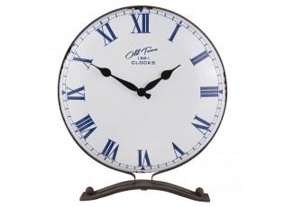 Kovové stolní retro hodiny Old Town - 35*8*41 cm / 1*AA