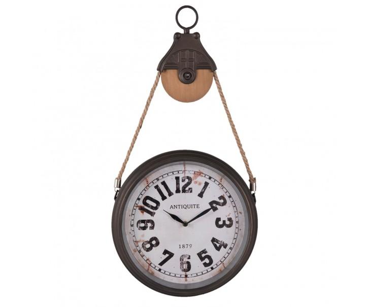 Nástěnné retro hodiny Antiquite - 34*6*67 cm / 1xAA