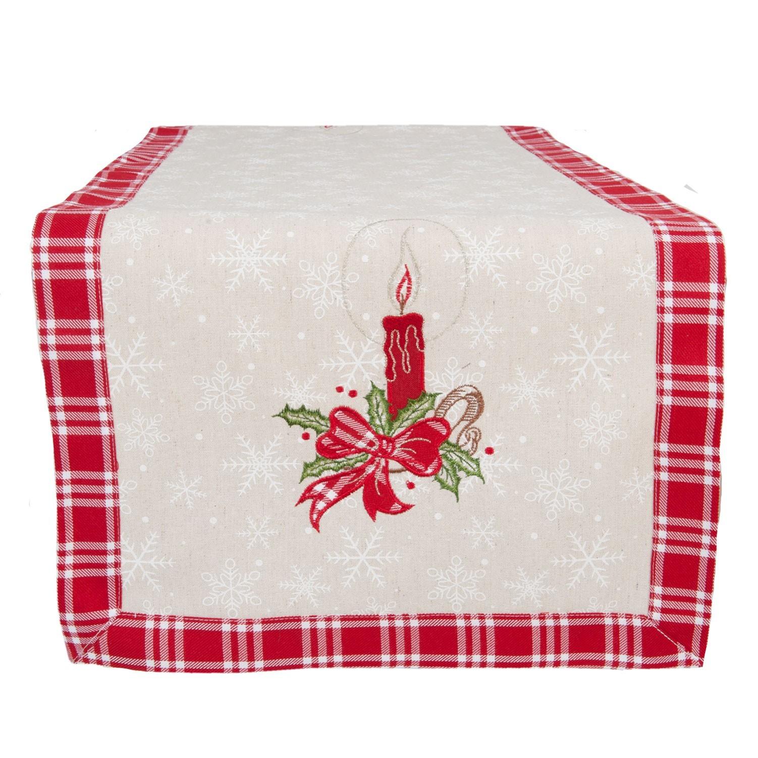 Běhoun na stůl vánoční svíčka - 40*120 cm