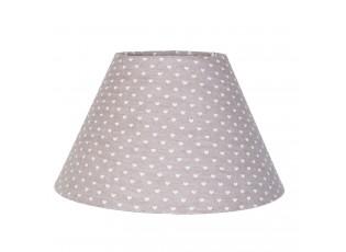 Stínidlo lampa Heart grey - Ø 25*16 cm