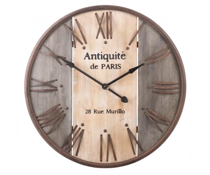 Nástěnné hodiny Anquité de Paris - Ø 92*5 cm / 1xAA