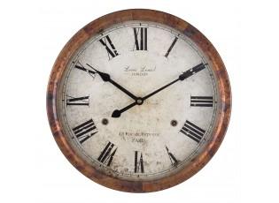 Nástěnné hodiny 48 rue de Paris  - 35*5*35 cm / 1xAA