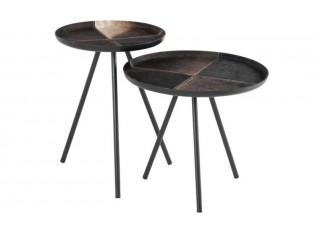 Set dvou kovových odkládacích stolků - 50*50*46 cm