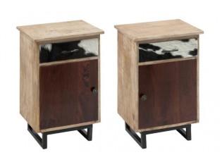 Dva dřevěné noční stolky - 45*35*63 cm