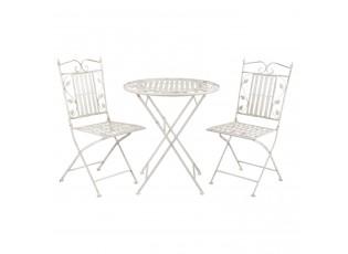 Zahradní skládací souprava - stůl + 2židle- Ø 70*77 cm / 40*52*93 cm (2)