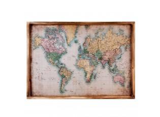 Obraz mapa světa - 70*2*50 cm