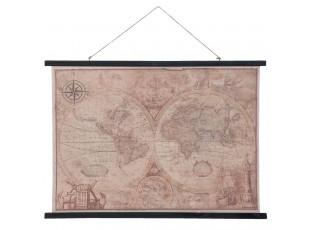 Nástěnná mapa zeměkoule  - 105*2*76 cm
