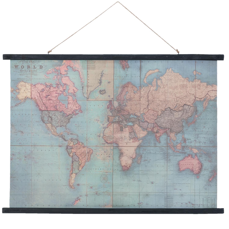 Nástěnná mapa světa- 105*2*76 cm