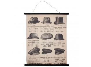 Nástěnná mapa klobouky - 80*2*100 cm