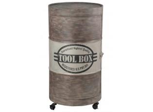 Kovová skříňka OIL BARREL na kolčkách - 54*51*97 cm