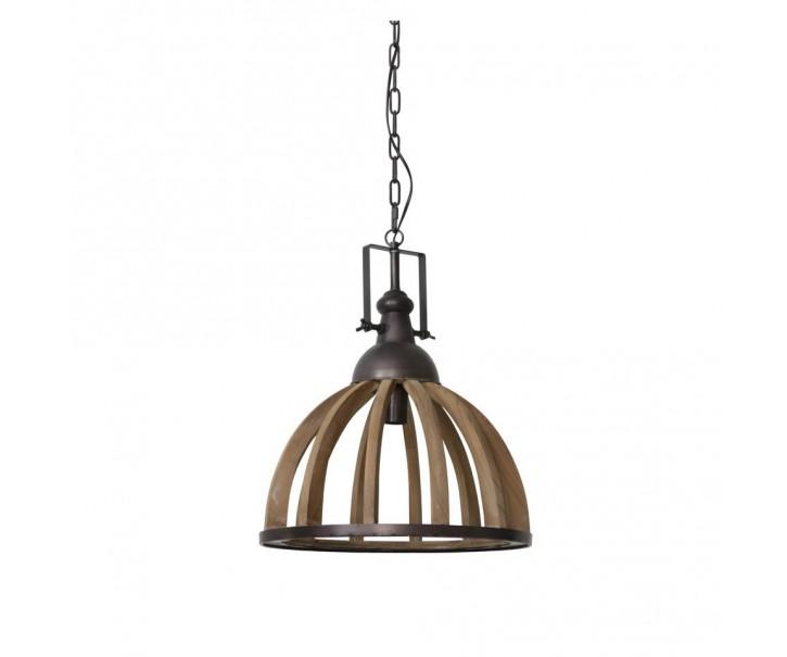 Zvěsné dřevěné světlo Djem - Ø47*58 cm