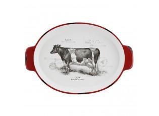 Oválná miska Kráva - 29*20*4 cm