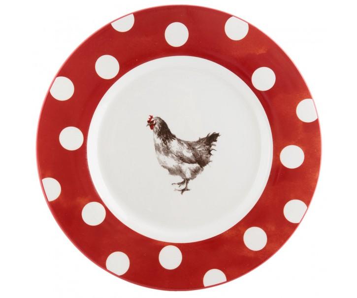 Mělký talíř Slepička  Country side animal - Ø 26 cm