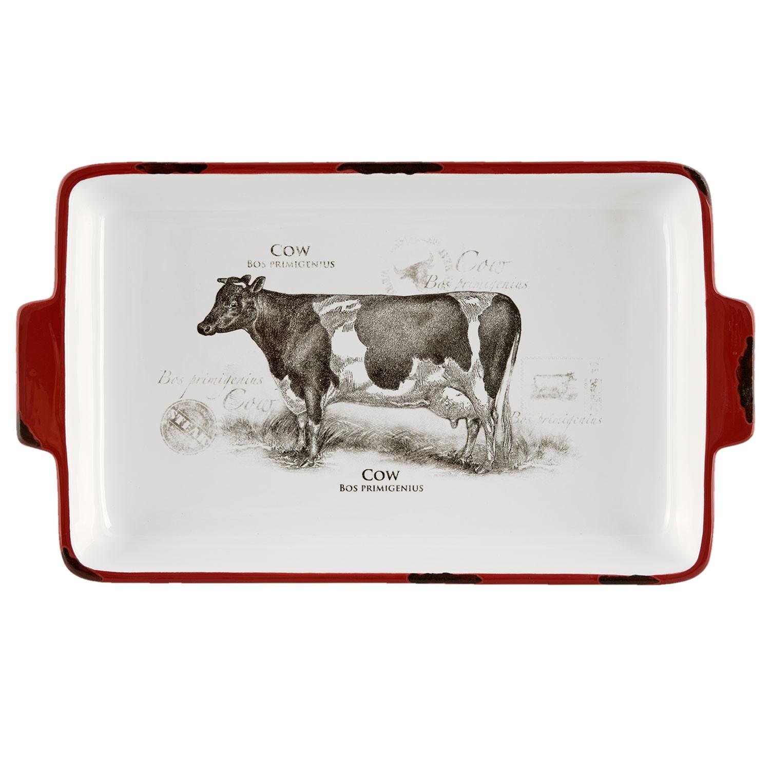 Zapékací mísa Kráva Country side animal - 30*18*4 cm