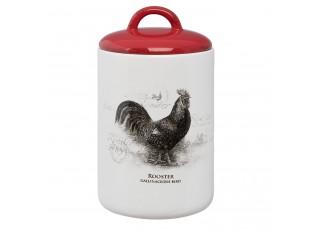 Dóza Kohout Country side animal - Ø 12*21 cm
