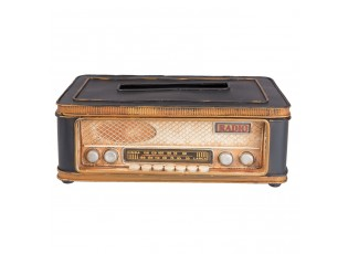 Kovový obal na kapesníky Rádio - 25*15*9 cm
