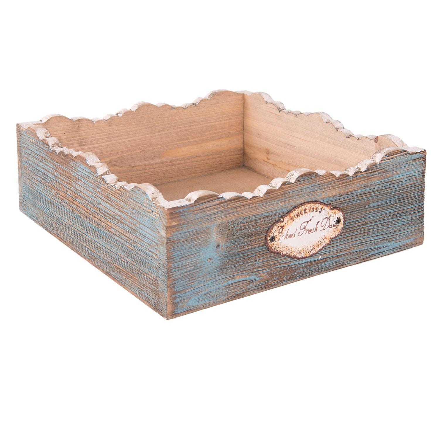 Dřevěný zásobník na ubrousky Fresh Daily - 20*20*7 cm