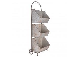 Vozík s úložnými boxy nebo stojan na květiny - 35*21*96 cm