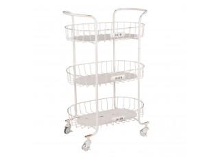 Koupelnový pojízdný kovový vozík - 56*35*90 cm