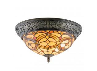 Stropní světlo Tiffany  Quadre - Ø 39*19 cm