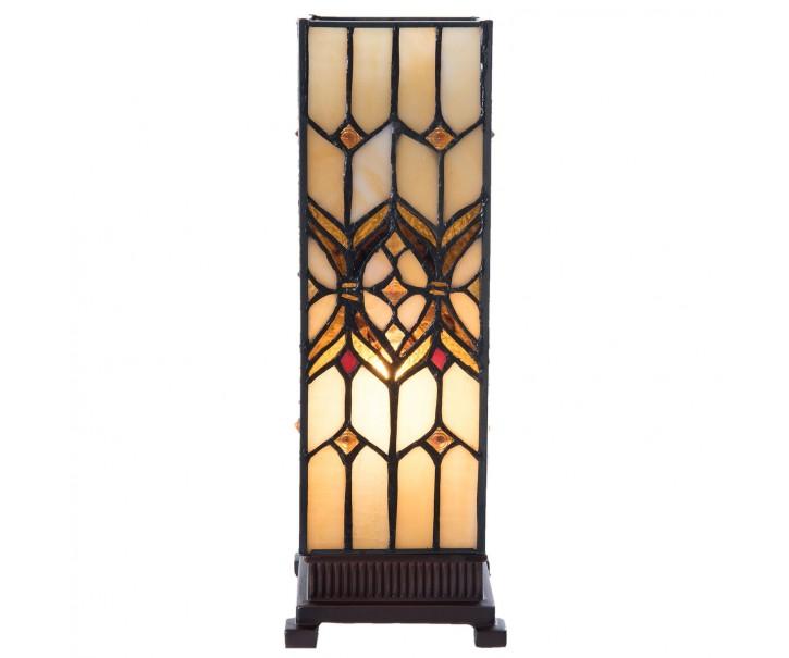 Stolní čtvercová lampa Tiffany  Quadre - 12*12*35 cm