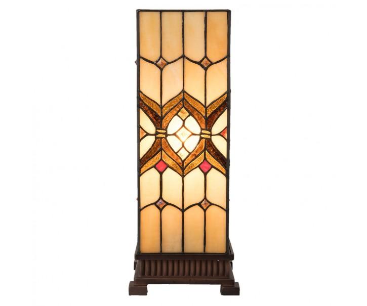 Stolní čtvercová lampa Tiffany  Quadre - 17*17*44 cm