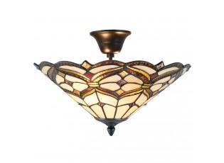 Stropní světlo Tiffany  Quadre - Ø 40*28 cm