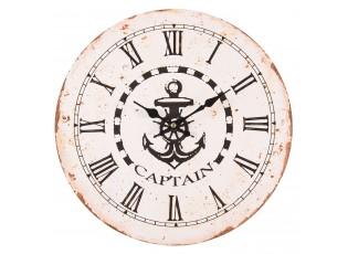 Nástěnné hodiny Captain - Ø 34*4 cm