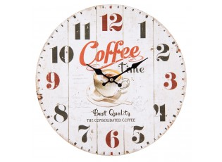 Nástěnné hodiny Coffee time - Ø 34*4 cm