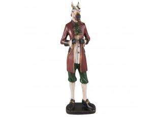 Dekorace koně v saku - 12*8*41 cm