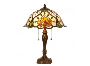 Stolní lampa Tiffany Yellow Garden - Ø 40*50 cm 2x E27
